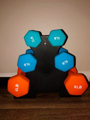 Dumbbell Set with Rack for Sale in Covina, CA