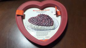 Kitchen Aid Red Silicone Heart-Shaped Pan for Sale in Lakewood, CO