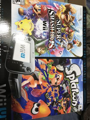 Nintendo Wii U Smash Splat Deluxe Set 32GB for Sale in San Bernardino, CA