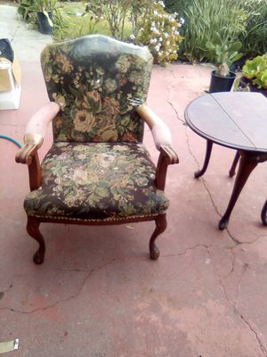 Antique tapestry wooden chair for Sale in Pasadena, CA