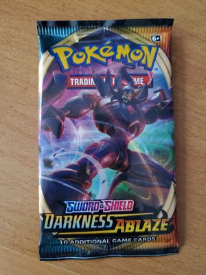 Darkness Ablaze Pokemon Card Pack *FACTORY SEALED* EARLY ENGLISH RELEASE for Sale in Rutherford, NJ
