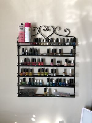 Wall mounted nail polish rack for Sale in Falls Church, VA