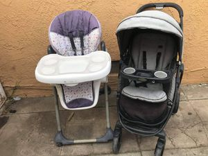 Stroller high chair FIRM PRICE NO DELIVERY CASH OR TRADE FOR BABY FORMULA for Sale in Los Angeles, CA