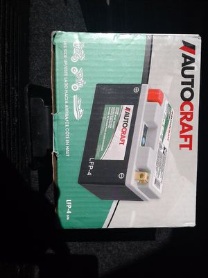 Lithium motorcycle battery brand new neber used for Sale in Killeen, TX