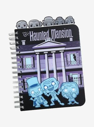 New Unused Disney Haunted Mansion Notebook Journal (Funko Pop) with Hitchhiking Ghosts Tabs & Stickers for School, Work, Planner for Sale in Canton, MI