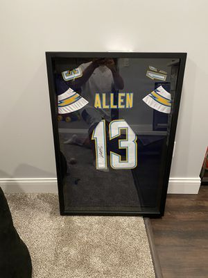 Keenan Allen signed and framed jersey with COA for Sale in Bloomington, IL