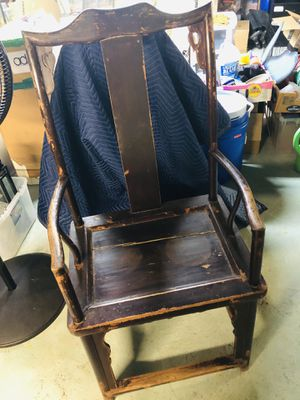 Two antique Ming Dynasty chairs for Sale in Sudbury, MA