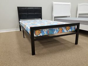 NEW! Youth Twin Kids Metal Bed - Black (Mattresses Sold Separately) for Sale in Clayton, NC