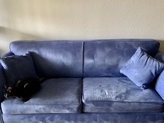 Blue Suede Double Sleeper Sofa for Sale in San Diego,  CA