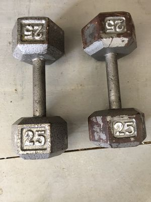2/ 25 pound weights for Sale in Newark, OH