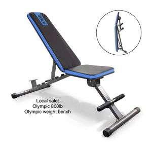 800lb capacity Olympic adjustable weight bench brand new in box for Sale in Edgewood, WA