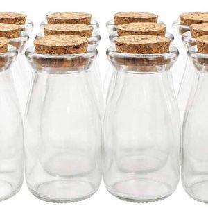 🥣 10 Small Glass Jars Cork Lids for Sale in Danbury, CT