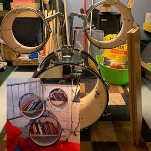 DIY Upcycle Drum Set Bookshelf for Sale in Cheshire, CT