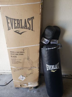 Everlast punching bag with bag stand for Sale in McKinney, TX
