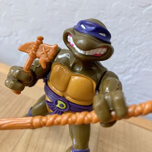 Vintage 1990 Teenage Mutant Ninja Turtles Shell Storage Donatello, With 4 Accessories TMNT Collectable Toy for Sale in Elizabethtown, PA