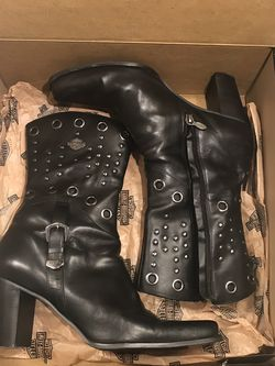 Harley Davidson Womens Black Leather Sz 8.5M for Sale in Austell,  GA