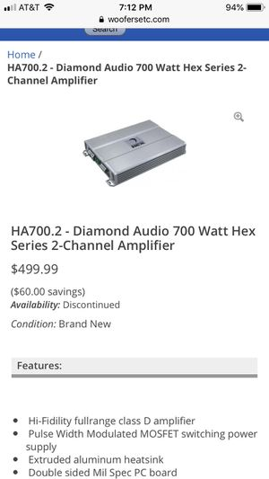 Car audio amplifier for Sale in Galena, OH