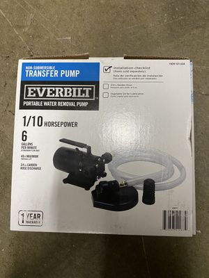 Transfer Pump- Water Removal pump- new in box for Sale in Seattle, WA