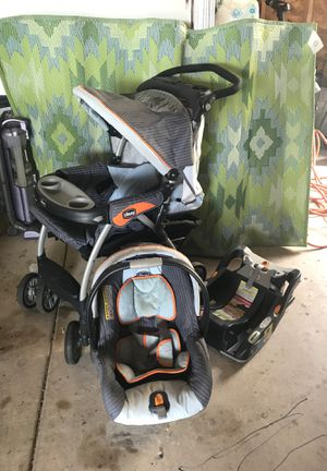 Chicco Baby Seat with base and Stroller for Sale in Wichita, KS