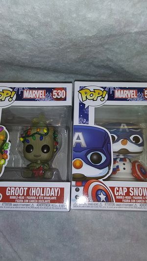 Funko Pop Captain America & Grout Marvel Christmas for Sale in Oklahoma City, OK