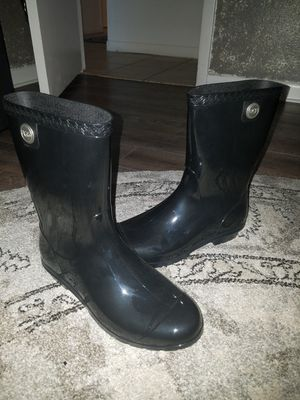 UGG womens Black Rain Boots, size 9 for Sale in St. Petersburg, FL