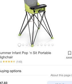 Summer Infant Portable High Chair for Sale in Mountlake Terrace,  WA