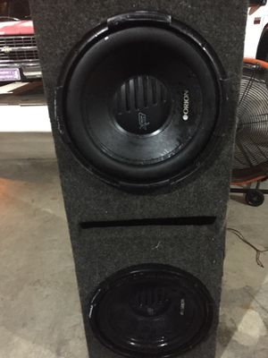 12 inch subwoofers with amp for Sale in Port St. Lucie, FL