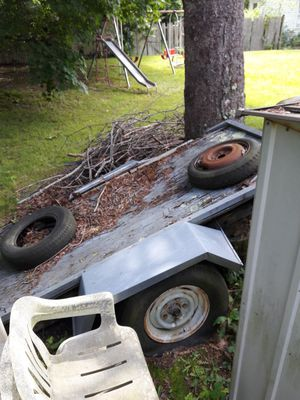 Truck Trailer. Flat tires don't know if they work. Name your price! for Sale in Brockton, MA