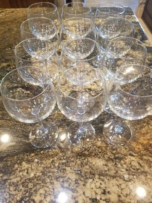 12 red wine glasses. High quality glass. for Sale in Scottsdale, AZ