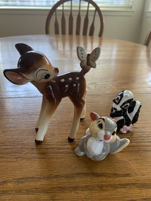BEST OFFER Vintage Disney Bambi, Thumper, and Flower ceramic figurines for Sale in Danville, CA