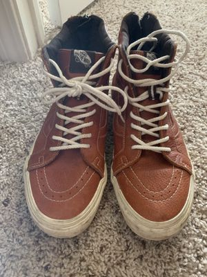 Limited edition leather vans for Sale in Lawrenceville, GA