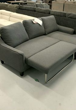 🏺$39 Down Payment . 🏺🏺Jarreau Gray Sofa Chaise Sleeper for Sale in Beltsville,  MD