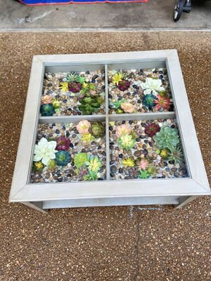 Handmade faux succulent coffee table for Sale in Bellevue, TN