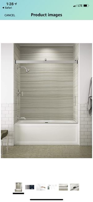 KOHLER K-706000-L-SH Levity Shower Door, Crystal Clear glass with Bright Silver frame for Sale in Union, NJ