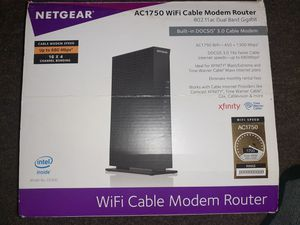 Netgear AC1750 wifi cable modem router xfinity for Sale in Ontarioville, IL