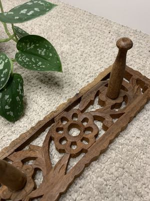 boho key / coat wall hanger - carved wood for Sale in Seattle, WA