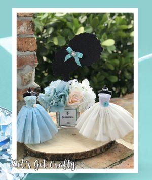 Barbie Tiffany Blue Centerpiece 3 piece Set for Sale in Miami Gardens, FL