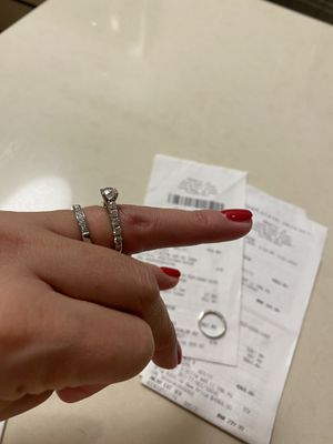 Wedding Ring Set Size 4.75 for Sale in Tustin, CA