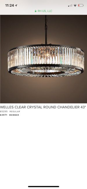 Welles clear crystal round chandelier for Sale in Boston, MA