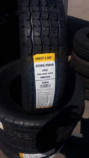 St205 75 r15 trailer tires 4 new $200 for Sale in Moreno Valley, CA