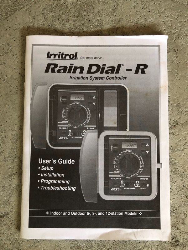 Irritrol Rain Dial RD-900-R Station Irrigation Controller for Sale in  Rowland Heights, CA - OfferUp