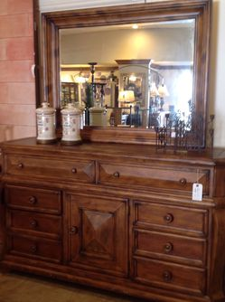Wood Dresser With Mirror for Sale in Newport Beach,  CA