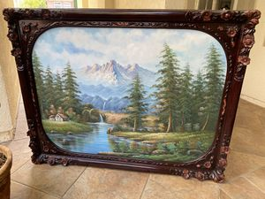 Landscape Large Canvas Painting with Frame for Sale in Concord, CA