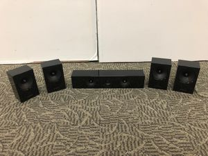 5-Piece Samsung HT-E5400 Home Theater System Speakers PS-ES3-1, PS-ES4-1, PS-EC2-1 for Sale in Anaheim, CA