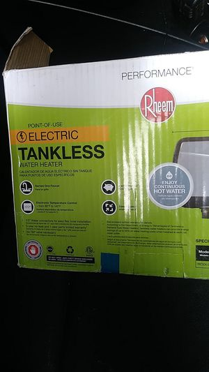 Electric tankless. Water Heater for Sale in San Diego, CA