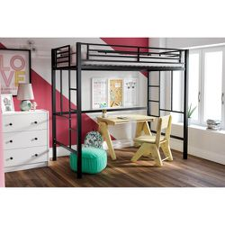 YourZone Metal Loft Bed, Twin Size, Multiple Colors for Sale in Taylor,  MI