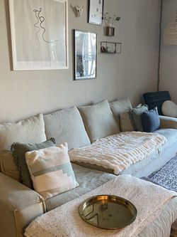 Beige Couch from The Hangar - Decorative Pillows Included for Sale in Los Angeles,  CA