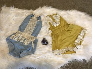 Baby girl rompers 0-3 for Sale in Havelock, NC