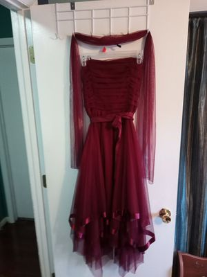 Burgundy strapless party dress for Sale in Fayetteville, NC