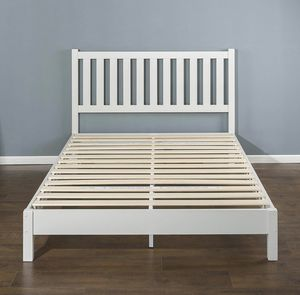 New wood KING ZINUS bed frame for Sale in Strongsville, OH